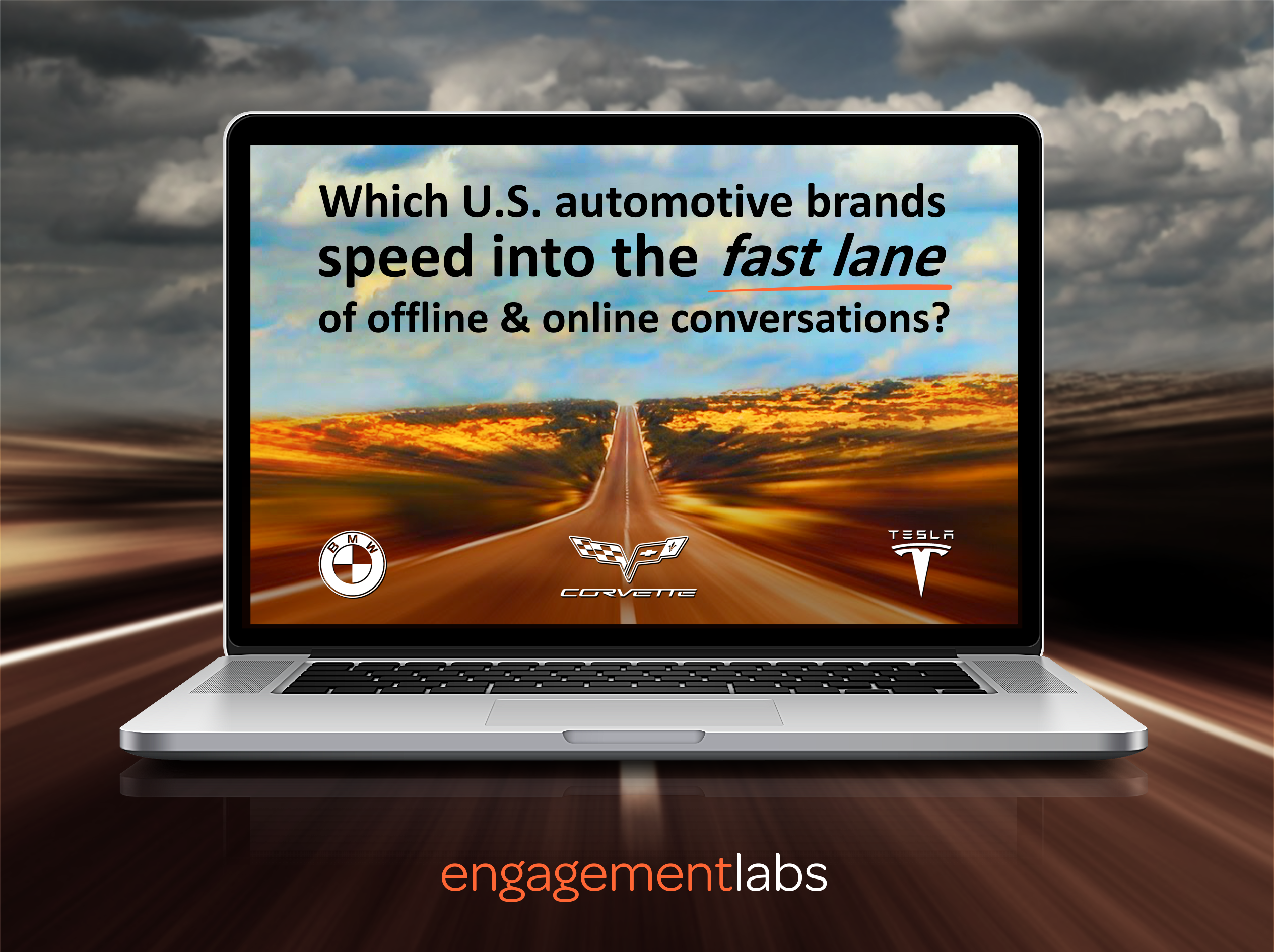 Corvette, BMW and Tesla Motors Speed into the Fast Lane of Brand Conversations both Online and Offline