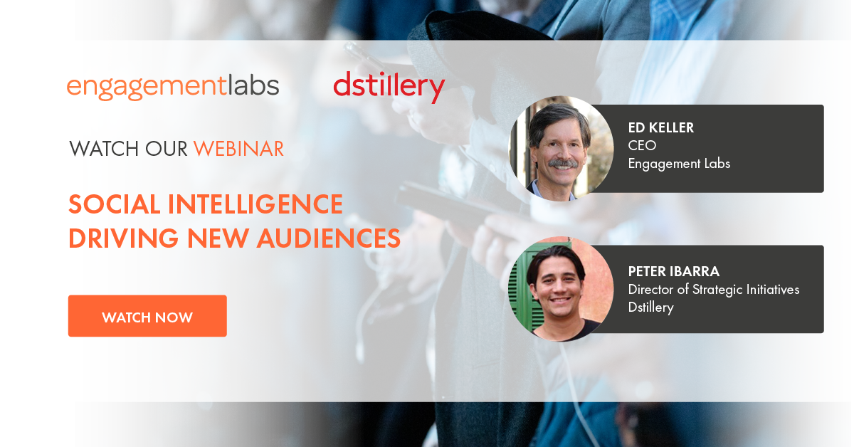 Joint on-demand webinar with Dstillery: Social Intelligence Driving New Audiences